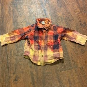 Distressed infant flannel